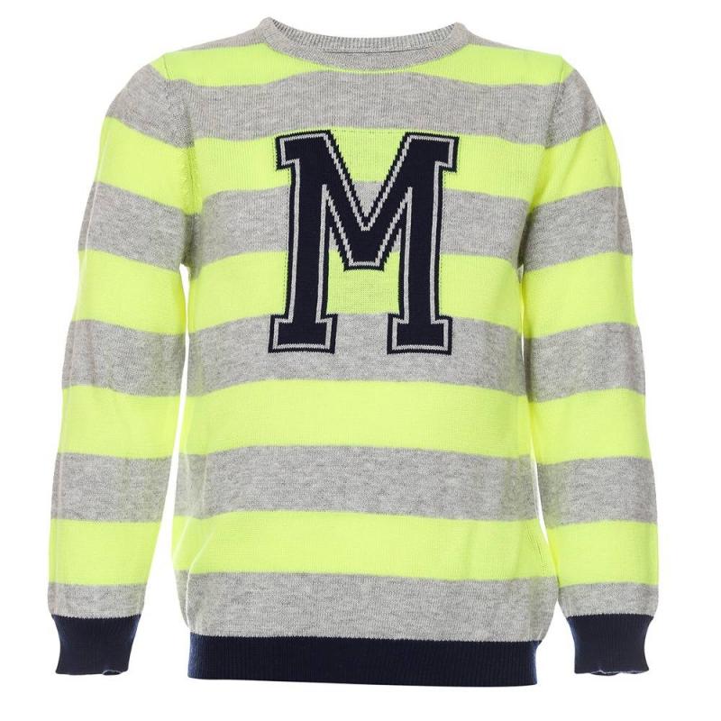СвитерСвитер желтогоцвета марки Mayoralдля мальчиков.<br>Стильный хлопковый свитер декорирован серо-синими полосками, а также изображением буквы М на груди.<br><br>Размер: 8 лет<br>Цвет: Желтый<br>Рост: 128<br>Пол: Для мальчика<br>Артикул: 641215<br>Страна производитель: Китай<br>Сезон: Весна/Лето<br>Состав: 50% Хлопок, 50% Акрил<br>Бренд: Испания