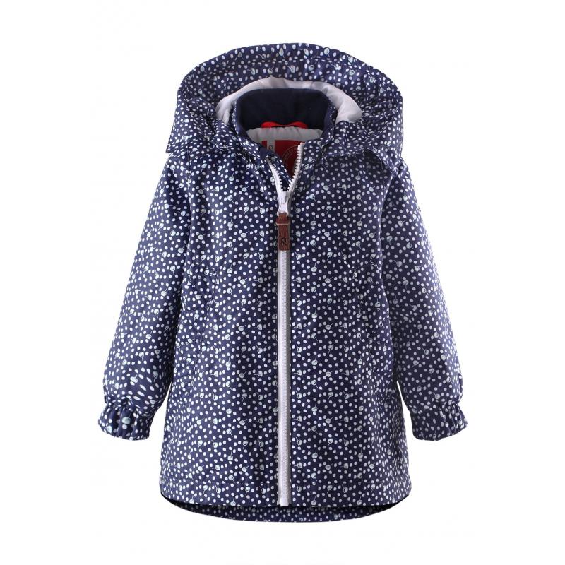 КурткаКурткатемно-синегоцвета марки REIMA для девочек.<br>Курткавыполнена из водоотталкивающего и ветронепроницаемого материала с грязеотталкивающими свойствами.Куртка на подкладке выполнена в насыщенномцвете и украшена цветочным принтом, имеет съемный капюшон на кнопках, спереди дополнена карманами. Манжеты на резинкеобеспечивают плотное прилегание и защищают от ветра. Светоотражающие детали на куртке обеспечивают безопасность в темное время суток.<br><br>Размер: 3 года<br>Цвет: Темносиний<br>Рост: 98<br>Пол: Для девочки<br>Артикул: 642811<br>Страна производитель: Китай<br>Сезон: Весна/Лето<br>Коллекция: 2016<br>Состав: 100% Полиэстер<br>Состав подкладки: 100% Полиэстер<br>Бренд: Финляндия<br>Вид застежки: Молния<br>Покрытие: Полиуретан<br>Тип: Демисезон<br>Серия: Reima