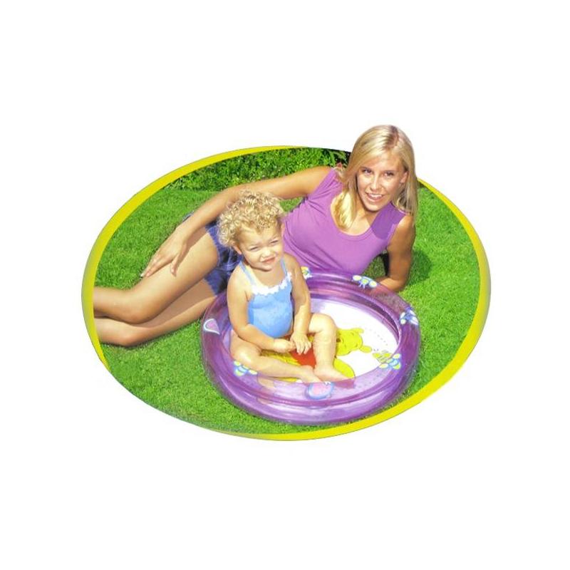 Бассейн надувной Винни ПухБассейн надувной Винни Пух марки Intex.<br>Детский надувной бассейн Винни-Пух предназначен для самых маленьких детей в возрасте от 1 и до 3 лет. Он имеет невысокие мягкие бортики, что позволяет находится в нем ребенку достаточно безопасно.Бассейн изготовлен из ПВХ. Данный материал идеально подходит для надувных изделий. Он безопасен для ребенка, устойчив к воздействию солнечных лучей и воды, прочный и вместе с тем легкий. Бассейн можно использовать как во дворе загородного дома, так и брать с собой на пляж. В сдутом состоянии он очень компактен, легко надувается с помощью насоса, поэтому не доставит проблем с его эксплуатацией.<br>Материал: ПВХ.<br>Размеры: диаметр - 61 см, высота бортиков - 15 см.<br><br>Возраст от: 12 месяцев<br>Пол: Не указан<br>Артикул: 635104<br>Бренд: Китай<br>Лицензия: Disney<br>Размер: от 12 месяцев