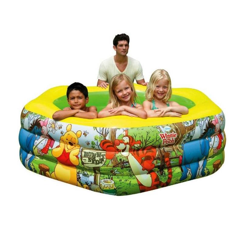 Intex Бассейн надувной Винни Пух бассейн детский intex винни пух надувной пол 191x178x61 см