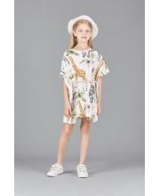 Платье-туника принт Сафари с поясом