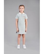 Платье-поло с декором