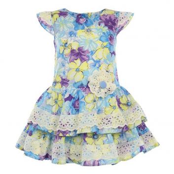 Девочки, Платье LP Collection (голубой)643243, фото