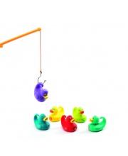 Игра рыбалка Утки разноцветные Djeco