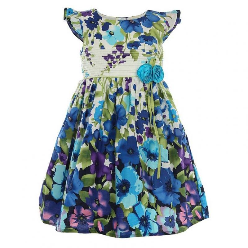 ПлатьеПлатьеголубогоцвета маркиLP Collection.<br>Платье на подкладке, выполненное из чистого хлопка, украшено красивым цветочным принтом в фиолетово-голубой гамме, рюшами на рукавах, а также милыми голубыми цветами на талии. Модель застегивается сзади на пуговицы, апояс завязывается на бант, дополнено платье небольшим подъюбником, который придает легкуюпышность.<br><br>Размер: 8 лет<br>Цвет: Голубой<br>Рост: 128<br>Пол: Для девочки<br>Артикул: 643329<br>Страна производитель: Таиланд<br>Сезон: Весна/Лето<br>Состав: 100% Хлопок<br>Состав подкладки: 100% Хлопок<br>Бренд: Таиланд<br>Вид застежки: Пуговицы