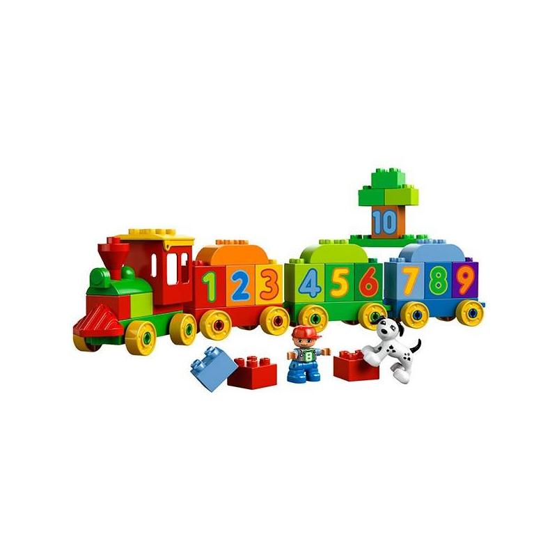 Конструктор Дупло Считай и играйКонструктор Дупло Считай и играй марки LEGO - этояркие кубики с цифрами от 1 до 10, из которых ваш малыш сложит поезд. Также в набор входят фигурки мальчика и веселого щенка, которые помогут в изучении цифр.Помимо поезда, можно построить собачью будку, домик, тоннель и многое другое!<br>В наборе:<br>- 2 фигурки Дупло: мальчик и собака<br>- 4 колесные базы для поезда<br>- Кубики с цифрамиот 1 до 10.<br>Кол-во деталей: 31<br>Размеры упаковки:35 х 19 см<br><br>Возраст от: 18 месяцев<br>Пол: Не указан<br>Артикул: 642705<br>Бренд: Дания<br>Размер: от 18 месяцев