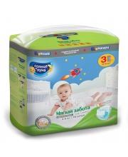 Подгузники для детей M 4-9 кг 78 шт Мягкая забота Солнце и Луна