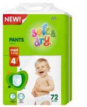 Детские трусики-подгузники Soft&Dry Maxi 8-13 кг 72 шт Helen Harper