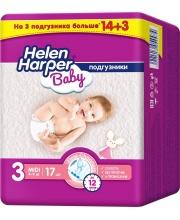 Подгузники Baby Midi 4-9 кг 17 шт Helen Harper