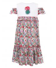Платье с ярусами воланов Choupette