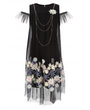 Платье с вышивкой на сетке Choupette