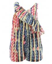 Платье-комбинезон с воланом