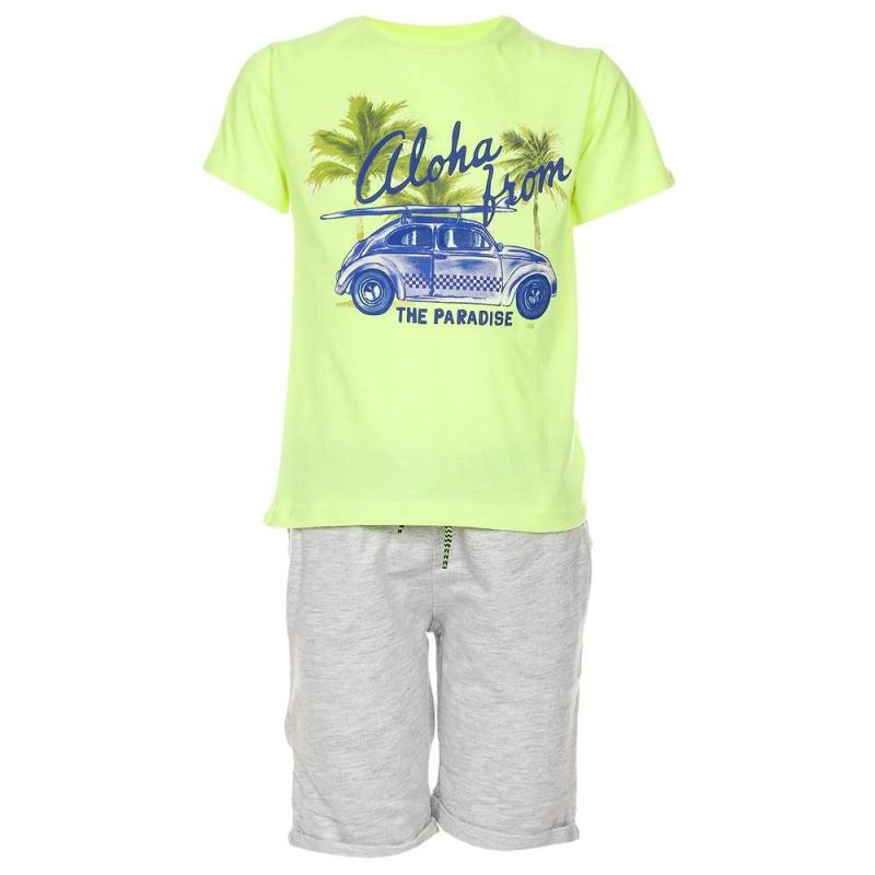 КомплектКомплектфутболка+шорты зеленогоцвета марки Mayoralдля мальчиков.<br>В комплект входит футболка и шорты, выполненные из чистого хлопка. Футболка зеленогоцвета декорирована ярким летним принтом с надписью и изображением автомобиля. Шорты серогоцвета с удобной широкой резинкой на поясе дополнены карманами и стильными отворотами.<br><br>Размер: 4 года<br>Цвет: Зеленый<br>Рост: 104<br>Пол: Для мальчика<br>Артикул: 641421<br>Бренд: Испания<br>Страна производитель: Индия<br>Сезон: Весна/Лето<br>Состав: 100% Хлопок
