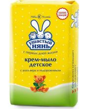 Крем-мыло детское с алоэ вера и подорожником 90 гр Ушастый нянь