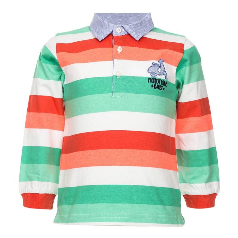 Рубашка-полоРубашка-поло коралловогоцвета марки Mayoralдля мальчиков.<br>Хлопковое поло с длиннымрукавом декорировано бело-зелеными полосками, голубым воротничком, а также стильной нашивкой.<br><br>Размер: 2 года<br>Цвет: Коралловый<br>Рост: 92<br>Пол: Для мальчика<br>Артикул: 640753<br>Бренд: Испания<br>Страна производитель: Индия<br>Сезон: Весна/Лето<br>Состав: 89% Хлопок, 11% Полиэстер