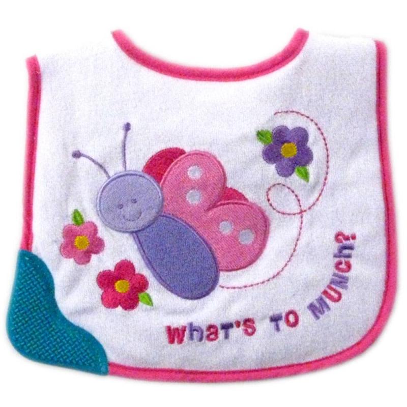 НагрудникНагрудник розовогоцвета с резиновым уголком марки LUVABLE FRIENDS. Нагрудник изготовлен из мягкого материала,украшенаппликацией и вышивкой. На нижнем уголке - специальная резиновая вставка, которую малыш может кусать. Легко надевается и снимается, есть удобная застёжка на липучке. Материал уголка - резина, не содержащая вредных веществ.Размер нагрудника 19х24 см.<br><br>Цвет: Розовый<br>Пол: Для девочки<br>Артикул: 604853<br>Страна производитель: Китай<br>Сезон: Всесезонный<br>Состав: 65% Хлопок, 35% Полиэстер<br>Бренд: США<br>Размер: Без размера