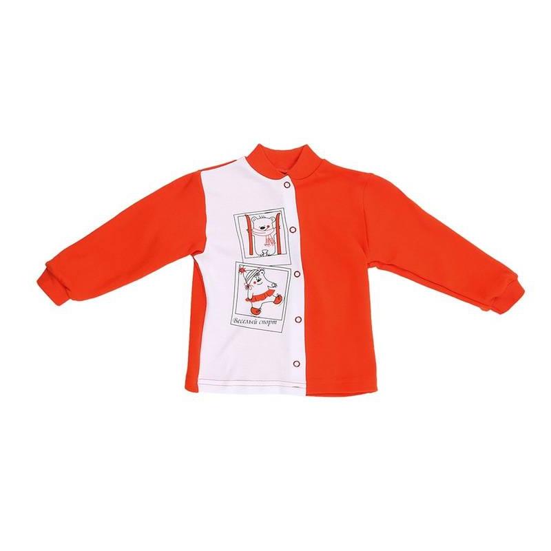 КофточкаКофточкакрасногоцвета марки КотМарКот длямалышей.<br>Кофточка выполнена из чистого хлопка и декорирована изображением забавных медвежат-спортсменов, а также вставкойбелого цвета. Модель с длинным рукавом застегивается на кнопки.<br><br>Размер: 18 месяцев<br>Цвет: Красный<br>Рост: 86<br>Пол: Не указан<br>Артикул: 642343<br>Страна производитель: Россия<br>Сезон: Всесезонный<br>Состав: 100% Хлопок<br>Бренд: Россия<br>Вид застежки: Кнопки