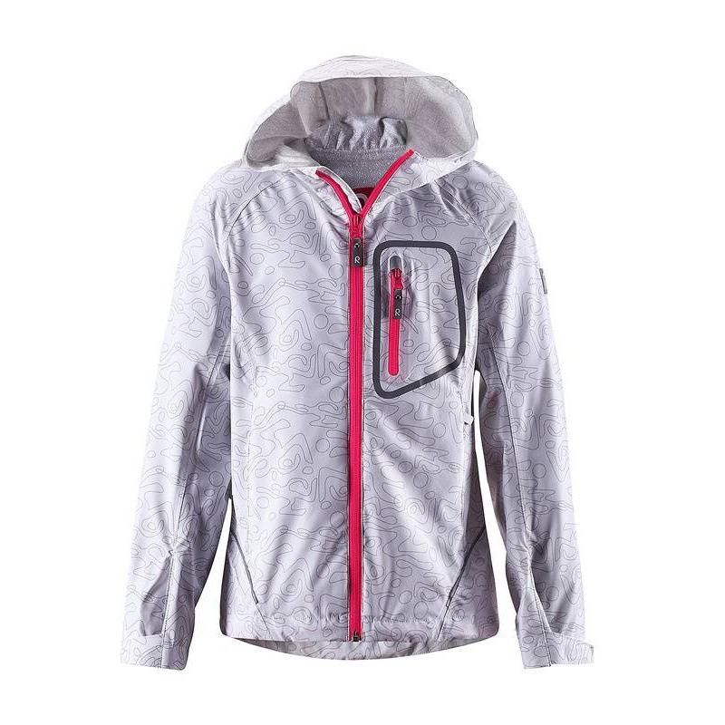 КурткаКурткабелогоцвета марки REIMA длядевочек.<br>Куртка выполнена из водоотталкивающего и ветронепроницаемого материала с грязеотталкивающими свойствами. Куртка дополнена тремякарманами и капюшоном, а также декорирована абстрактным принтом и молниями контрастного цвета. Манжеты на липучках обеспечивают плотное прилегание и защищают от ветра. Светоотражающие детали на куртке обеспечивают безопасность в темное время суток.<br><br>Размер: 8 лет<br>Цвет: Белый<br>Рост: 128<br>Пол: Для девочки<br>Артикул: 643025<br>Страна производитель: Китай<br>Сезон: Осень/Зима<br>Состав: 92% Полиамид, 8% Эластан<br>Бренд: Финляндия<br>Вид застежки: Молния<br>Покрытие: Полиуретан<br>Тип: Демисезон<br>Серия: Reima