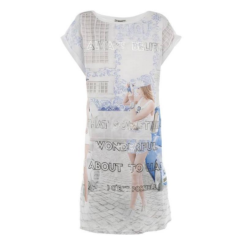 ПлатьеПлатьеголубогоцвета марки Mayoral.<br>Платье с коротким рукавом на подкладке декорировано изображением стильных девочек на улице города, а также легкое платье украшено выделяющимся серебристым текстом.<br><br>Размер: 10 лет<br>Цвет: Голубой<br>Рост: 140<br>Пол: Для девочки<br>Артикул: 641684<br>Страна производитель: Индия<br>Сезон: Весна/Лето<br>Состав: 50% Полиэстер, 25% Хлопок, 25% Вискоза<br>Состав подкладки: 100% Хлопок<br>Бренд: Испания
