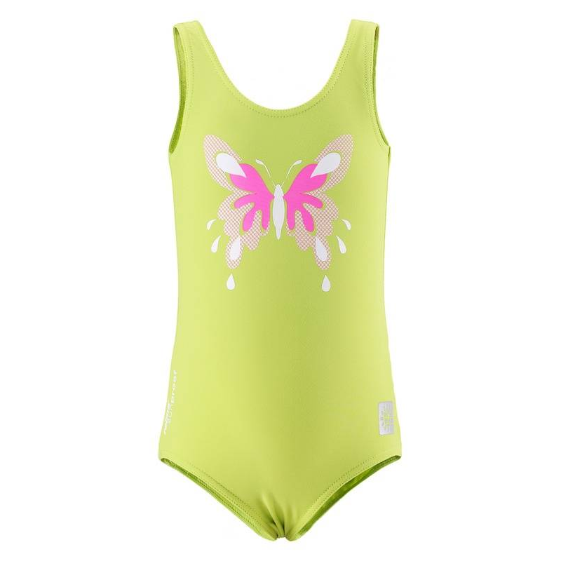 КупальникКупальник зеленогоцвета марки REIMA.<br>Слитный купальник выполнен в яркой расцветке и украшен изображением милой бабочки розового цвета.Защитный материал сУФ-фильтром 50+ позволит наслаждаться летним отдыхом без волнений.<br><br>Размер: 2 года<br>Цвет: Зеленый<br>Рост: 92<br>Пол: Для девочки<br>Артикул: 643207<br>Страна производитель: Китай<br>Сезон: Весна/Лето<br>Состав: 80% Полиэстер, 20% Эластан<br>Состав подкладки: 100% Полиэстер<br>Бренд: Финляндия<br>Тип: Лето<br>Серия: Reima