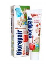 Детская зубная паста Kids Strawberry с экстрактом земляники 50 мл Biorepair