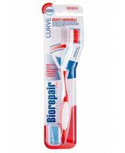 Зубная щетка изогнутая для чувствительных зубов Curve Denti Sensibili Biorepair