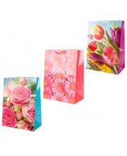 Пакет подарочный Цветы 33х46х20 см Играем Вместе