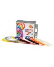 Набор-органайзер с пластиком для 3D ручек 15 цветов по 10 м в коробке Unid
