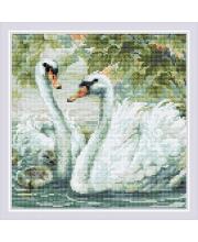 Набор алмазной мозаики Белые лебеди РИОЛИС