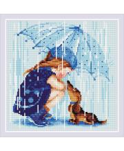 Набор алмазной мозаики Дождик РИОЛИС