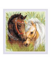 Набор алмазной мозаики Пара лошадей РИОЛИС