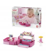 Игровой набор детская комната с фигуркой девочкой в чемоданчике EFKO