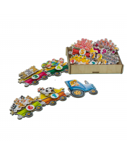 Игровой набор Липучка Поезд с овощами PAREMO