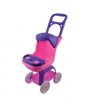 Большая коляска в рузкой козырьком и столиком 70 см Terides