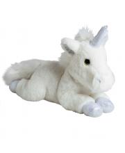Мягкая игрушка Единорог серебро 35 см MOLLI