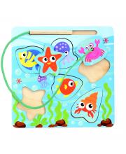 Развивающая игрушка Вкладыш Веселая рыбалка PAREMO