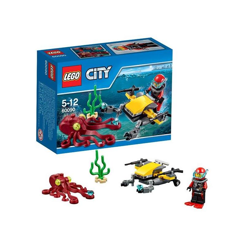 LEGO Конструктор Глубоководный скутер City 60090 гле можно скутер в иванове