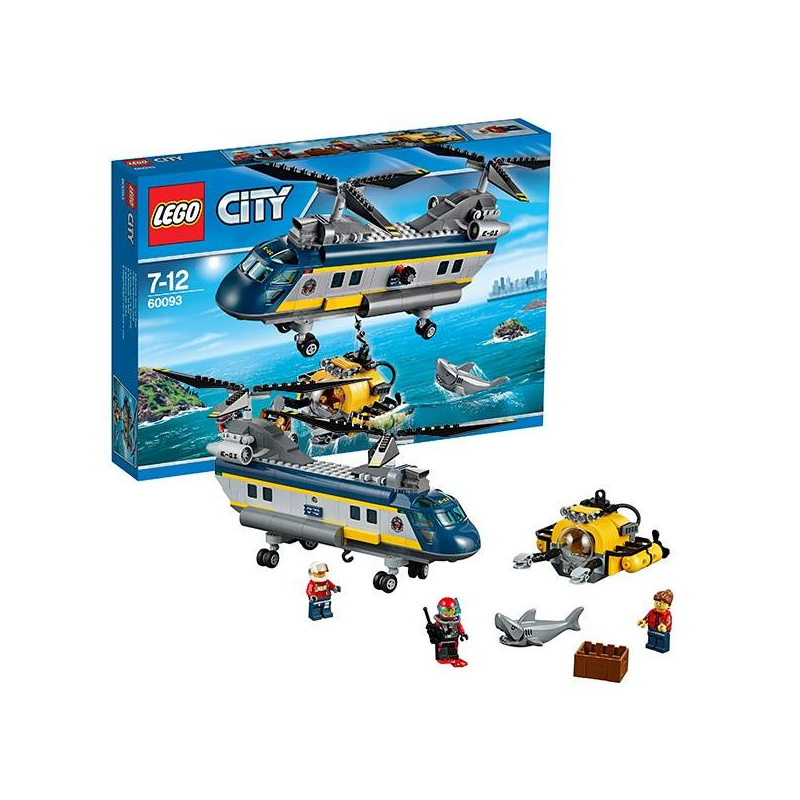 LEGO Конструктор Город Вертолет исследователей моря вышивка риолис 731 город у моря