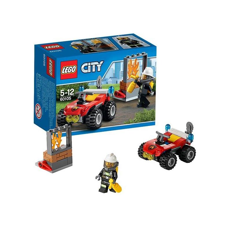 LEGO Конструктор Пожарный квадроцикл City 60105 недорого