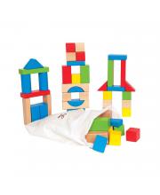 Конструктор деревянный цветной 50 элементов Hape