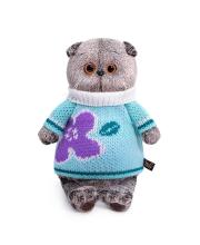 Мягкая игрушка Басик в весеннем свитере 25 см BUDI BASA
