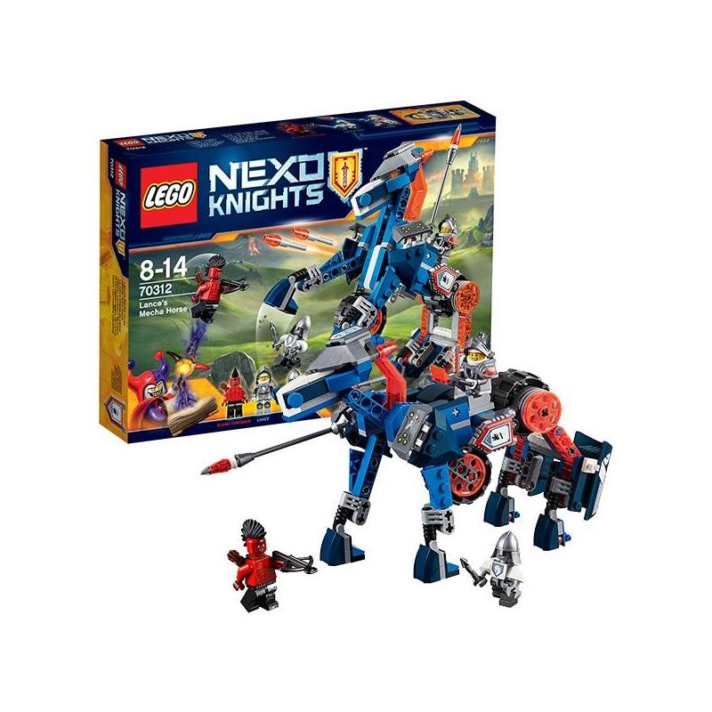 Конструктор Нексо Ланс и его механический коньКонструкторNexo KnightsЛанс и его механический конь марки LEGO.<br>Перед вами мощнейший рыцарский байк или механический конь-робот.Победи Огнеметателя из армии Джестро энергокопьём или флик-ракетами.<br>В наборе:<br>-3 минифигурки: Ланс Ричмонд, Огнеметатель и бот Деннис.<br>- 1 нексо-силапритягивающий луч! Отсканировав щит, входящий в комплект набора, вы можете усовершенствовать ваших нексо-героев в бесплатной мобильной игре.<br>Кол-во деталей:237<br>Размеры упаковки: 26,2 х 4,6 х 19,1см<br><br>Возраст от: 8 лет<br>Пол: Для мальчика<br>Артикул: 642782<br>Бренд: Дания<br>Размер: от 8 лет