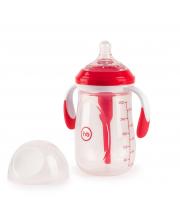Бутылочка антиколиковая с ручками и силиконовой соской 300 мл Happy Baby