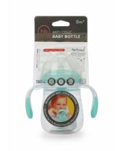 Бутылочка антиколиковая с ручками и силиконовой соской 180 мл Happy Baby