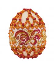 Набор для плетения из бисера Яйцо пасхальное Рябиновые бусы РИОЛИС