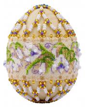 Набор для плетения из бисера Яйцо пасхальное Подснежники РИОЛИС