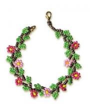 Набор для плетения из бисера Браслет с цветами РИОЛИС