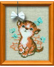 Набор для вышивания Котёнок с бантиком РИОЛИС