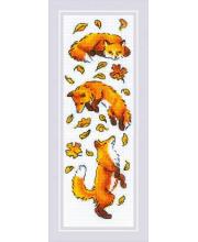 Набор для вышивания Лисы в листве РИОЛИС