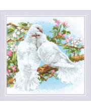Набор для вышивания Белые голуби РИОЛИС